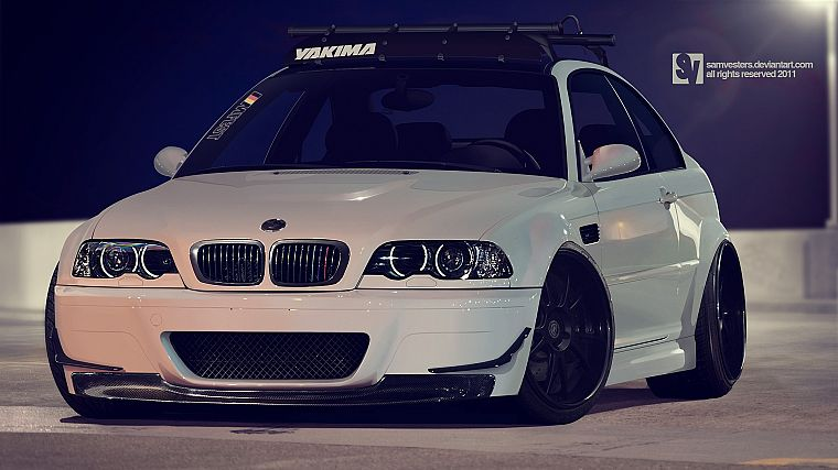 cars, BMW M3, BMW E46 - desktop wallpaper