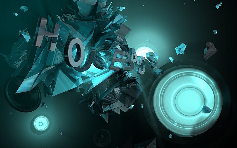 Abstract Music Lights Typography Sound Dubstep 3D