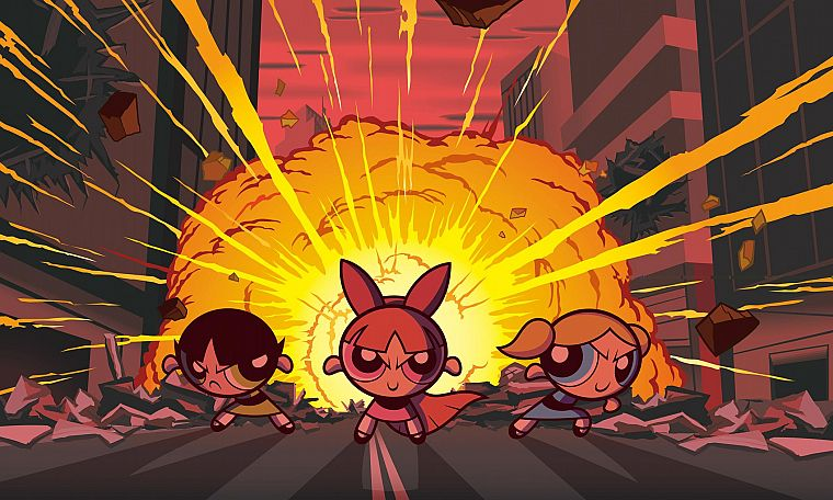 cartoons, Powerpuff Girls, animated, Superchicche - desktop wallpaper