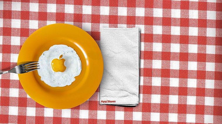 eggs, Apple Inc., logos, forks, fried eggs - desktop wallpaper