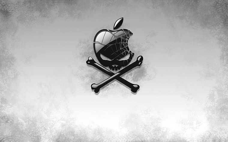 skulls, Apple Inc., bones - desktop wallpaper
