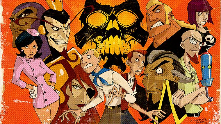 Molotov Cocktease, The Venture Bros., The Monarch, Hank Venture, Dean Venture, Dr. Girlfriend, Brock Samson, Dr. Orpheus, Dr. Venture, H.E.L.P.eR, Phantom Limb, Triana Orpheus - desktop wallpaper