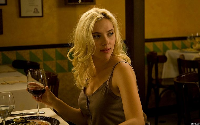 blondes, women, Scarlett Johansson, movies, actress, celebrity, wine, scene, Vicky Cristina Barcelona - desktop wallpaper