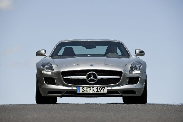 cars, Mercedes-Benz, German cars, Mercedes-Benz SLS AMG E-Cell - desktop wallpaper