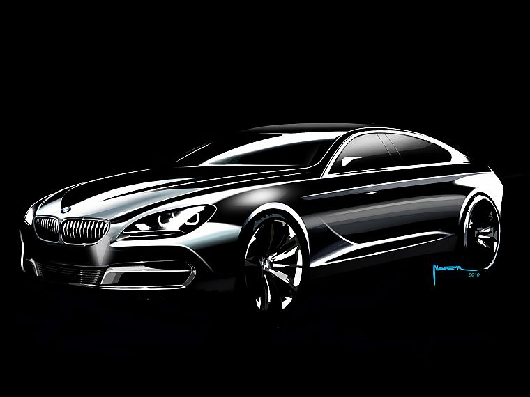 cars, design, sketches, coupe, BMW 6 Series - desktop wallpaper