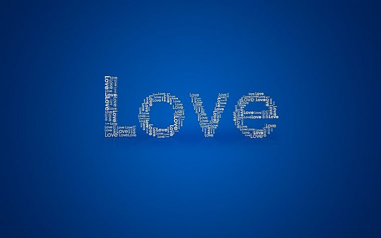 love, typography - desktop wallpaper
