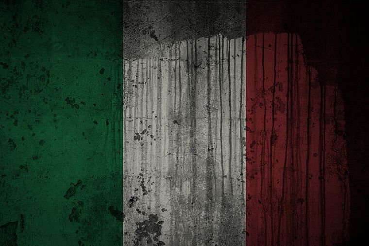 grunge, flags, Italian, Italy - desktop wallpaper