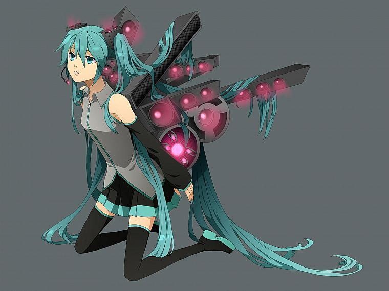 Vocaloid, Hatsune Miku, Saikano, detached sleeves - desktop wallpaper