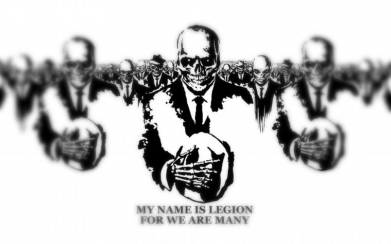 Anonymous, army, legion, skeletons - desktop wallpaper