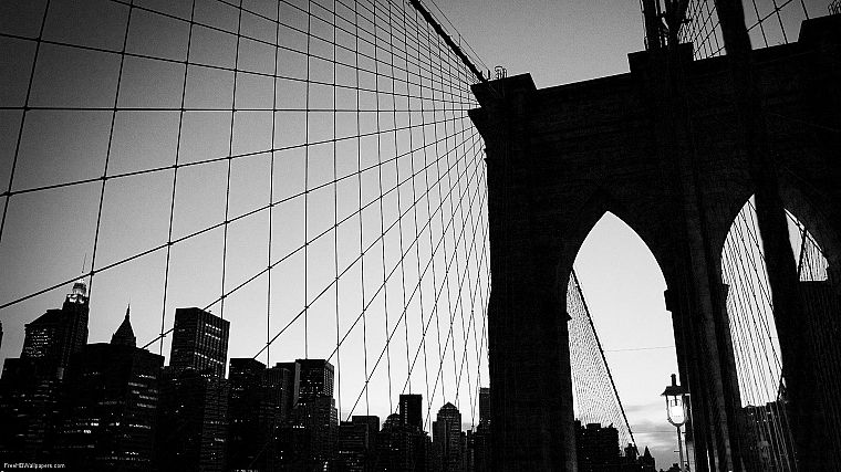 bridges, New York City - desktop wallpaper