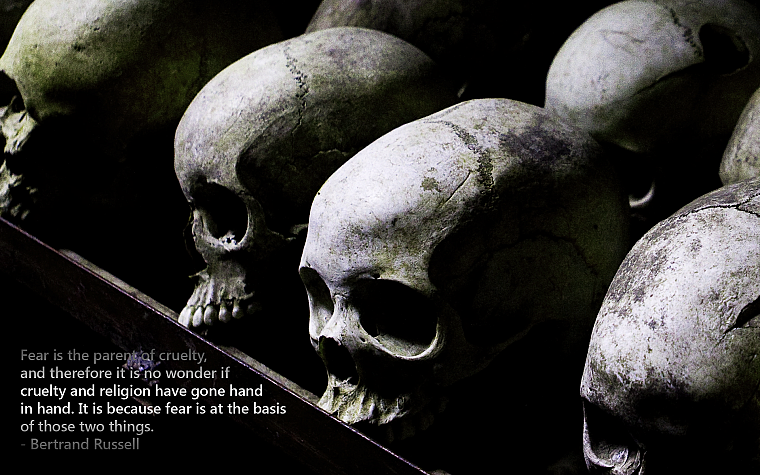 skulls, quotes, fearful, religion, F.E.A.R. - desktop wallpaper