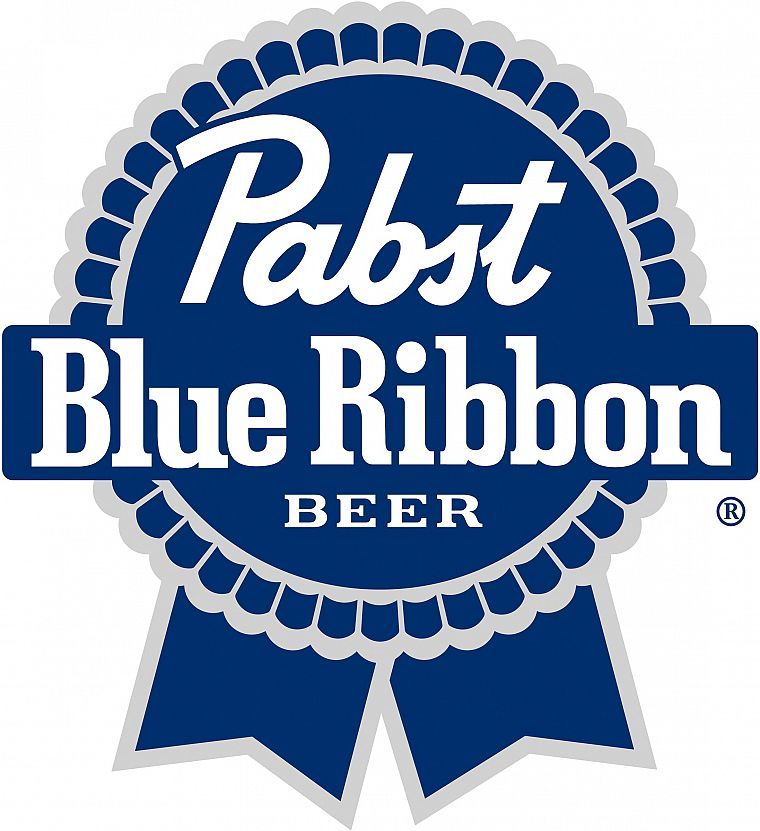 beers, blue, alcohol, brands, logos, Pabst Blue Ribbon - desktop wallpaper