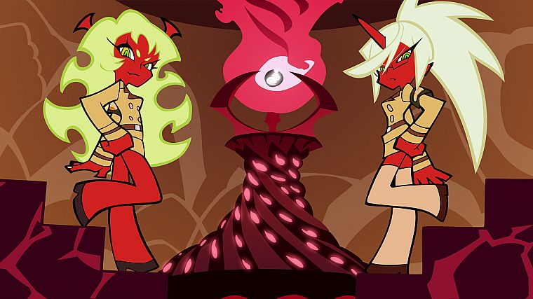 Panty and Stocking with Garterbelt, Kneesocks (character), Scanty (character) - desktop wallpaper