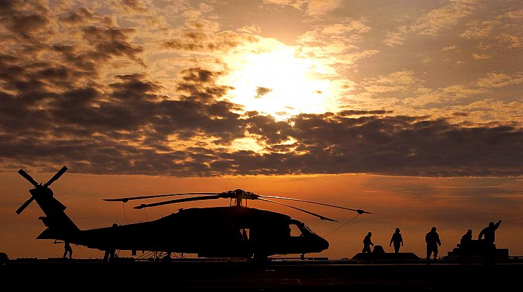 Sunset Aircraft Military Helicopters Vehicles Uh 60 Black Hawk
