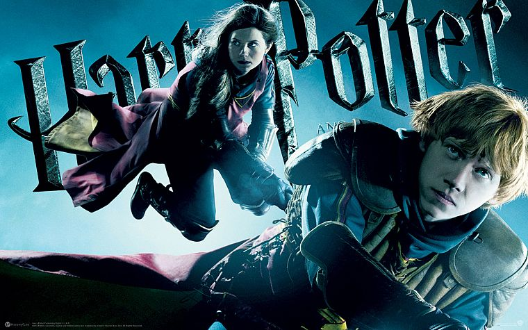 Harry Potter, Harry Potter and the Half Blood Prince, Rupert Grint, Ginny Weasley, Ron Weasley - desktop wallpaper