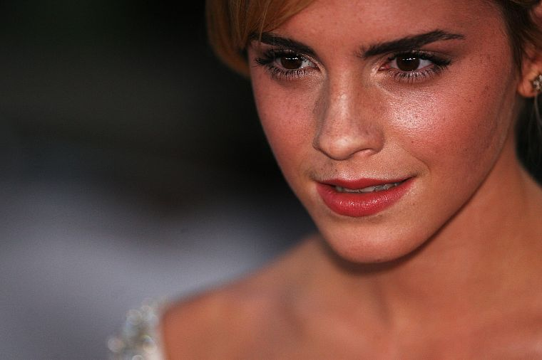 women, Emma Watson, actress, faces - desktop wallpaper