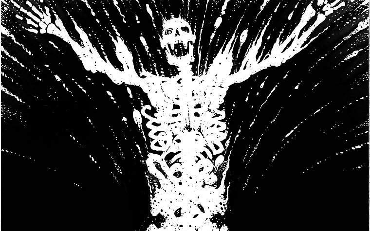 Watchmen, skeletons, Dr. Manhattan - desktop wallpaper