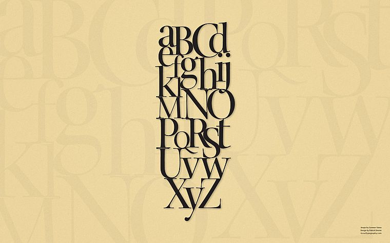 typography, alphabet - desktop wallpaper