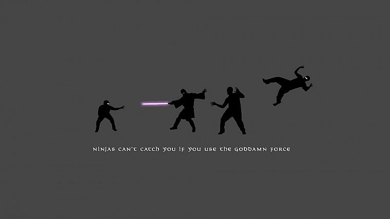 Star Wars, ninjas, lightsabers, silhouettes, ninjas cant catch you if, Mace Windu - desktop wallpaper