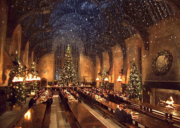 movies, Harry Potter, Harry Potter and the Chamber of Secrets, Hogwarts, X-mas - desktop wallpaper