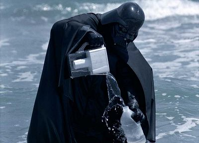 water, Star Wars, WTF, Darth Vader, beaches - random desktop wallpaper