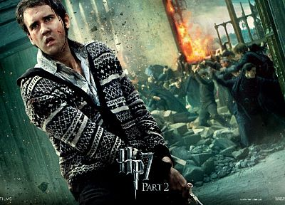 fantasy, movies, film, Harry Potter, magic, Harry Potter and the Deathly Hallows, movie posters, Neville Longbottom, Hogwarts, Matthew David Lewis - related desktop wallpaper