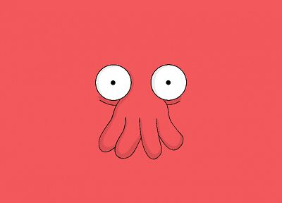 Futurama, cartoons, Dr Zoidberg, simple background - desktop wallpaper