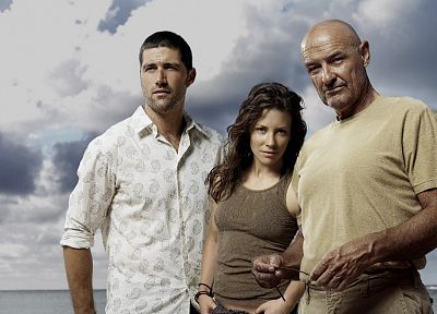 Evangeline Lilly, Lost (TV Series), Matthew Fox, Terry O´Quinn - random desktop wallpaper