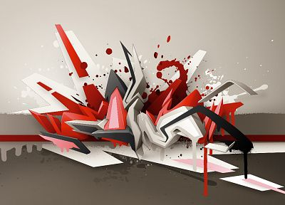 abstract, graffiti, street art, 3D art, daim - related desktop wallpaper