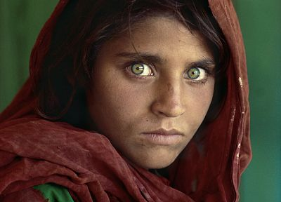 women, Afghanistan, green eyes, National Geographic, portraits, Afghan Girl - random desktop wallpaper