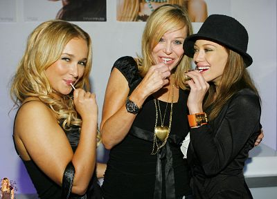 blondes, women, Hayden Panettiere, Hilary Duff, celebrity - related desktop wallpaper