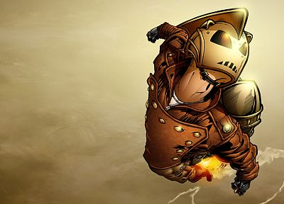 gloves, steampunk, jackets, rocket, helmets, rocketeer, skyscapes - random desktop wallpaper