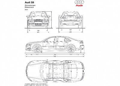 cars, Audi, vehicles, German cars, blueprint - random desktop wallpaper