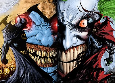 Batman, Spawn, DC Comics, The Joker, Todd McFarlane, Violator - newest desktop wallpaper