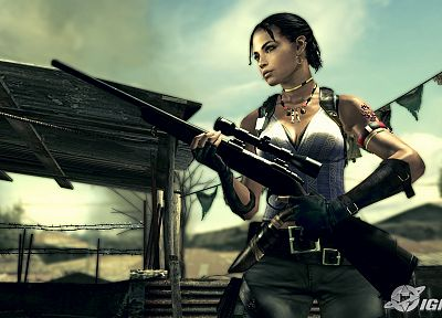 Resident Evil, girls with guns, Sheva Alomar - random desktop wallpaper