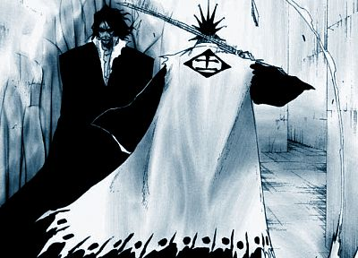 Bleach, Zaraki Kenpachi, Zangetsu, swords - random desktop wallpaper