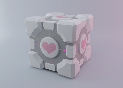 Valve Corporation, Portal, Companion Cube, Steam (software) - related desktop wallpaper