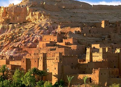 landscapes, ruins, old, architecture, rocks, buildings, Morocco - related desktop wallpaper