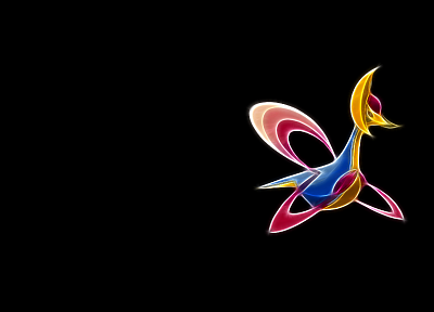Pokemon, black background, cresselia - random desktop wallpaper