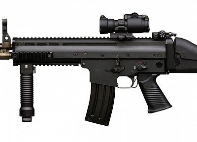 guns, weapons, SCAR-L, Aimpoint - related desktop wallpaper