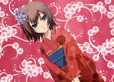 trap, Baka to Test to Shoukanjuu, anime boys, Kinoshita Hideyoshi, Japanese clothes - desktop wallpaper