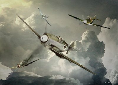 aircraft, dogfight - random desktop wallpaper