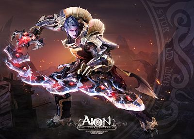 video games, Aion - desktop wallpaper