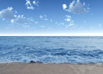 water, clouds, nature, coast, sea, beaches - random desktop wallpaper