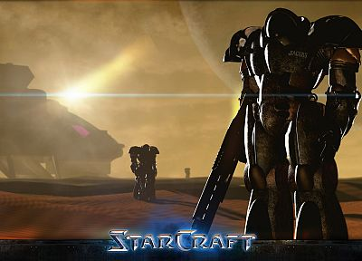 video games, StarCraft, US Marines Corps, StarCraft II - random desktop wallpaper