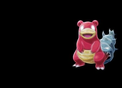 Pokemon, Slowbro, black background - desktop wallpaper