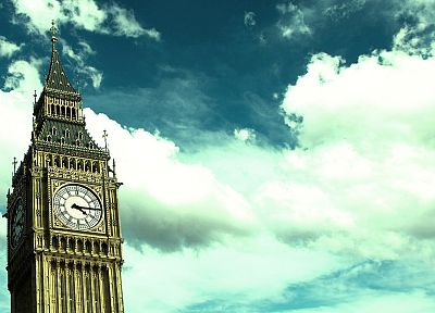 clouds, London, Big Ben, skyscapes - desktop wallpaper