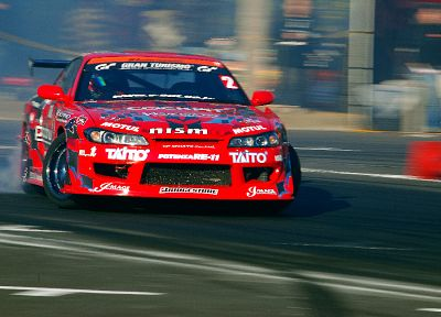 red, cars, drifting cars, Nissan, vehicles, Nissan Silvia, NISMO, Nissan Silvia S15 - related desktop wallpaper
