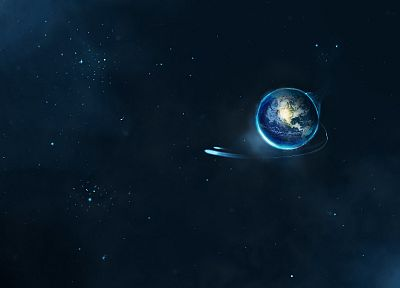 outer space, Earth, artwork - related desktop wallpaper