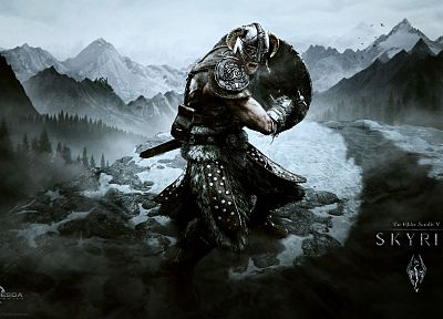 fantasy art, warriors, The Elder Scrolls, The Elder Scrolls V: Skyrim - related desktop wallpaper